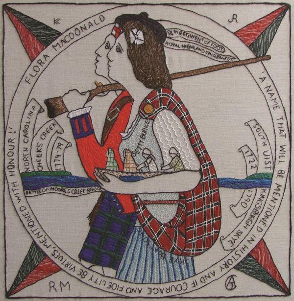 US10 - Flora Macdonald - The Scottish Diaspora Tapestry
