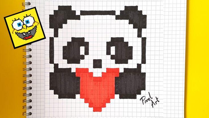 Pixel art : Comment dessiner un panda kawaii pas a pas