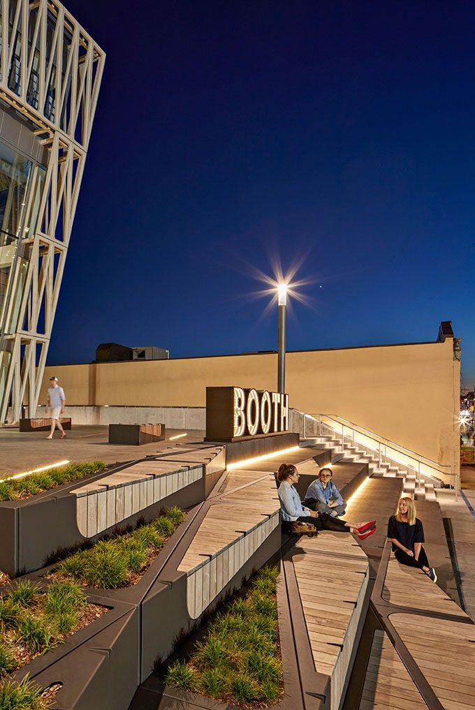 Booth Arts Plaza at Boston University | Landscape ...