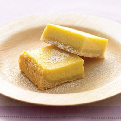 Pull a fast one on your guests. The lemon bars of your dreams take just 15 minutes of prep: Stir together a mere three ingredients to create a sunny, puckery filling for a buttery shortbread crust.Recipe: Creamy Lemon Squares