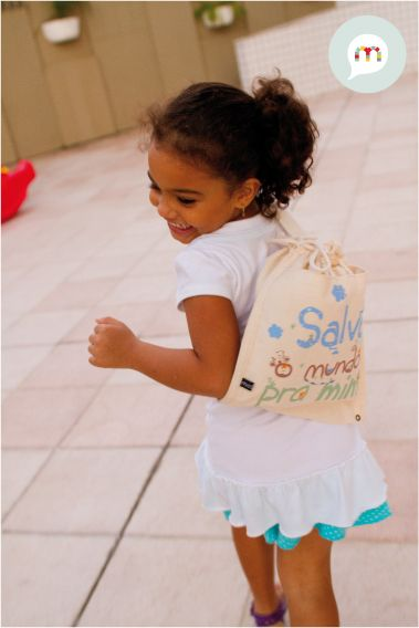 "#kids #bag #Bolsa Infantil ""Salve o Mundo pra Mim"""