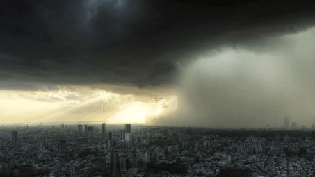 "A time lapse of a storm approaching a city: | 36 Gifs That'll Make You Say ""Whoa"""