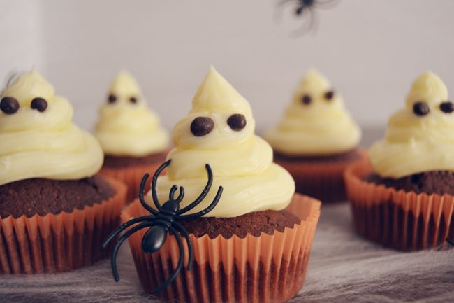Receta: Cupcakes fantasmales | Valor Postres