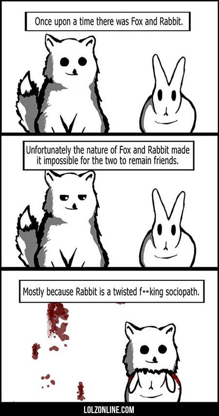 Once Upon A Time There Wasv Fox And Rabbit #lol #haha #funny