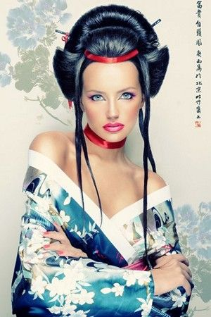 Тематическая фотосессия-макияж гейши