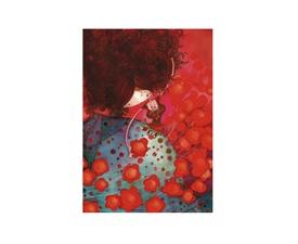Carte de souhaits Ketto - femme fleur / Ketto's greeting card - flower woman  www.kettodesign.com