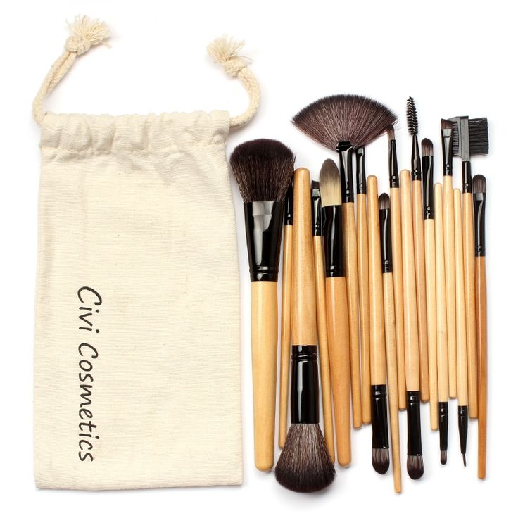 13.99$  Watch now - http://aliw1q.shopchina.info/go.php?t=32769954428 - Professional Makeup Brushes Set 18 pcs Makeup Brushes & Tools With Drawstring Bag  #magazineonlinewebsite