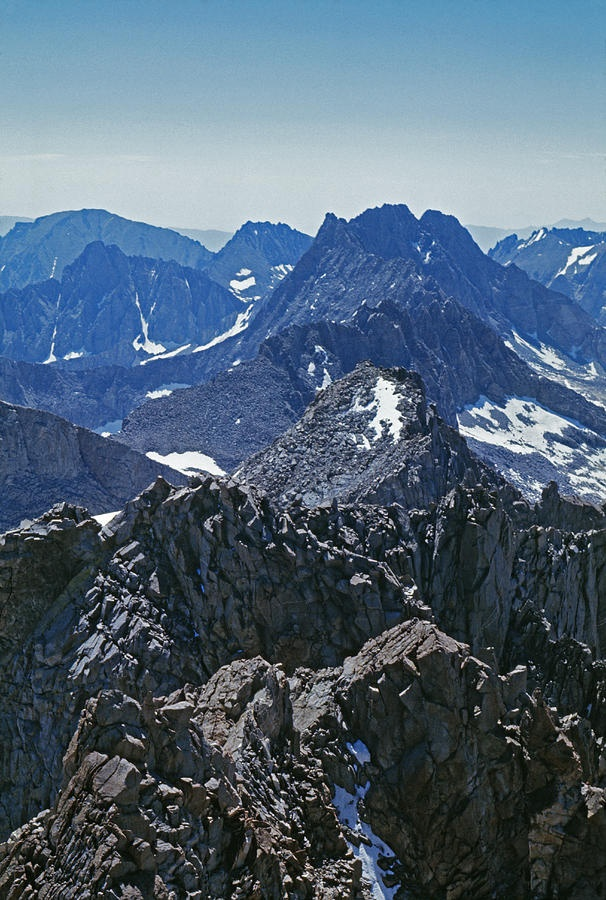 Middle Palisade And The Palisade Crest along Sierra Nevada Spine; photo by Gordon Wiltsie