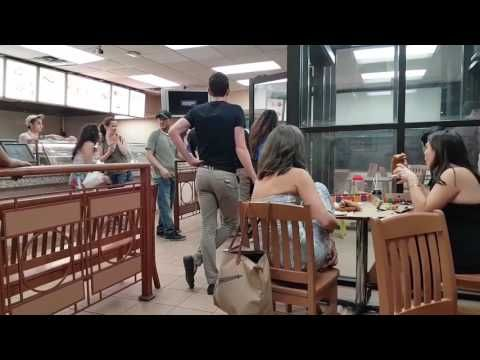 Another night with the drunk and hungry in Canada 🍁Big drunken brawl over pizza 🍕 taking too long at the Pizza Pizza  Queen & Broadview in Toronto Part 1 - YouTube