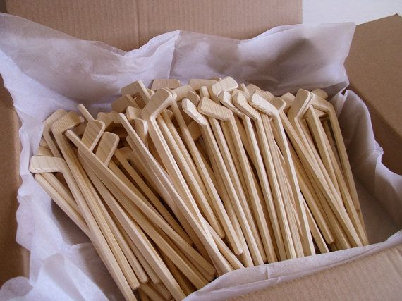 Lot of 100 Natural Wood Mini Hockey Player Sticks, DIY Craft, Sports Decor, Themed Wedding, Wooden Toy, Jacobs Wooden Toys on Etsy, $180.00