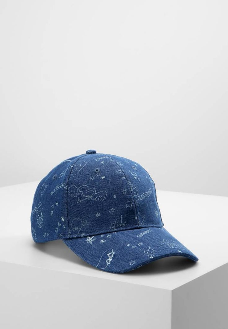 Missguided. SKETCH  - Cap - blue. Outer fabric material:100% polyester. Care instructions:Do not wash. Pattern:Print. Fabric:Denim