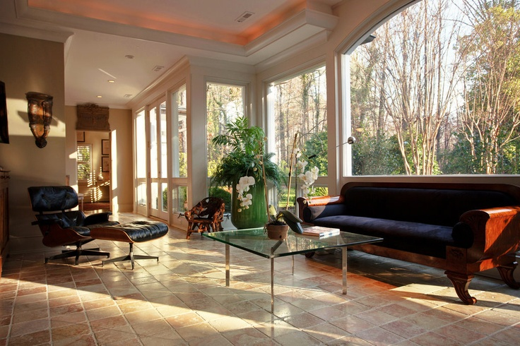 Tile floored sunroom bungalow addition ideas pinterest for Sunroom tile floor ideas