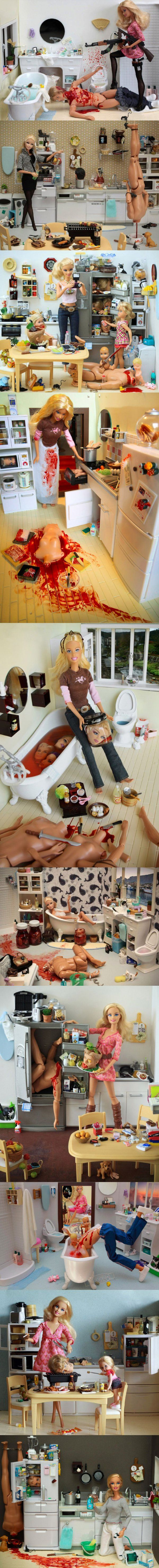 Serial Killer Barbie.  Awesome.