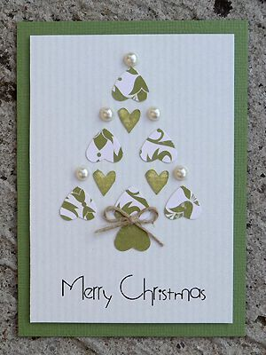 Mon beau sapin...Christmas tree made with hearts.