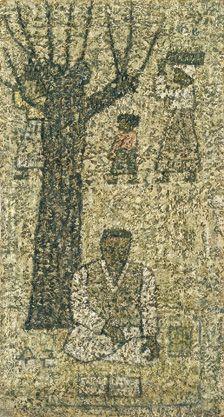 Park Soo-keun, Beneath a Tree, 1964, Oil on Hardboard, 27.7x21cm, GALLERY HYUNDAI
