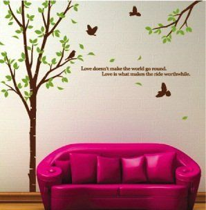 Living Room Wall Decals: WallStickersUSA Large Tree Wall Sticker Decal For  Home Decor From WallStickersUSA