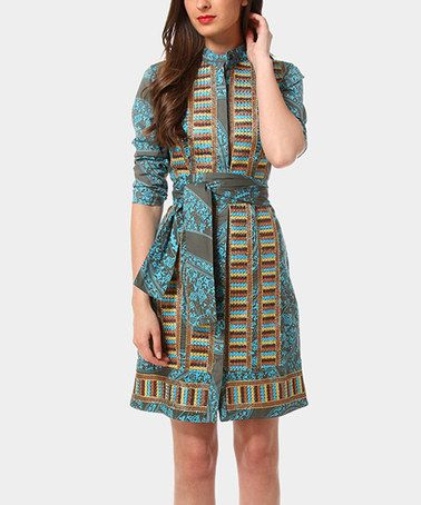 Another great find on #zulily! Turquoise Wiona Dress by Almatrichi #zulilyfinds