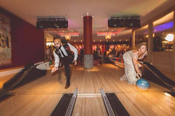Bowling anyone?! Cool fun wedding game idea. For a funky London wedding at the Ham Yard Hotel in London Soho.