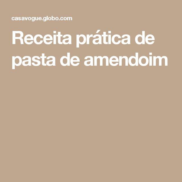 Receita prática de pasta de amendoim