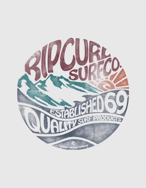 Rip Curl travamento no Behance