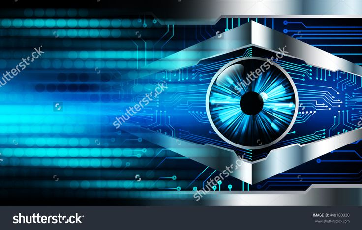 Eye Future Technology, Security Concept Background, Dark Blue Cyber Light Abstract For Computer Graphic Website Internet. Circuit. Illustration. Infographics. Motion Move. Binary - 448180330 : Shutterstock