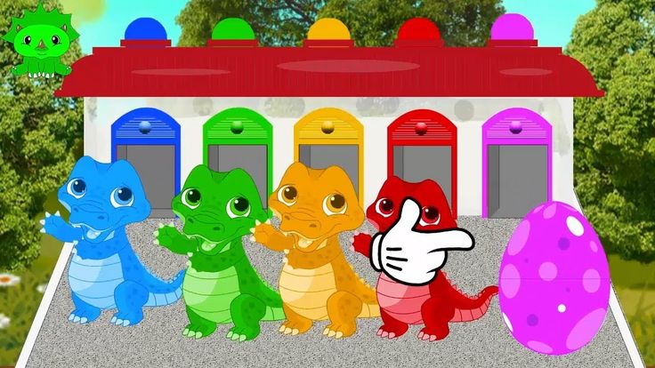 Learn colors with Dinosaur  Finger Song for Children