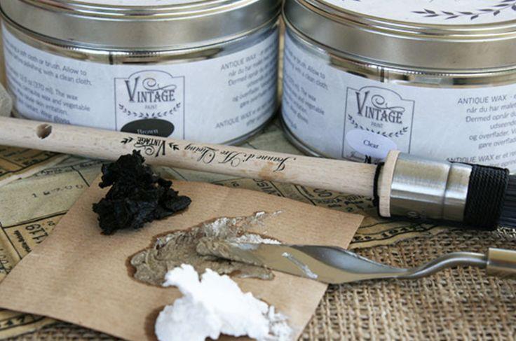 Krijtverf en wax:  Vintage Paint Jeanne d'Arc Living.