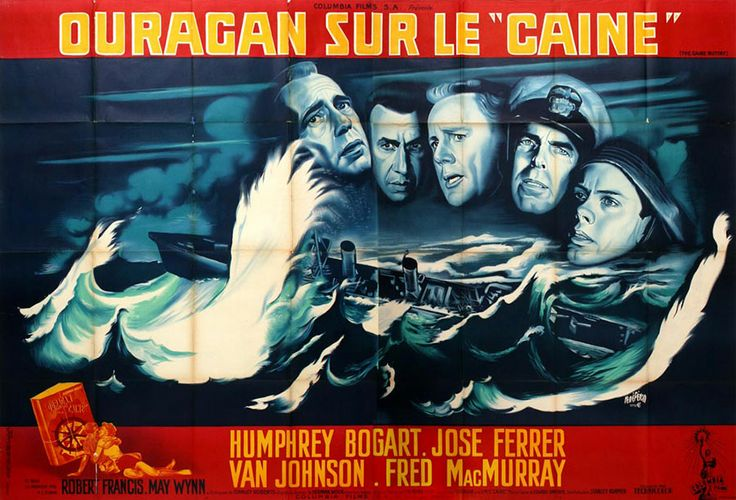 Double grande for The Caine Mutiny (Edward Dmytryk, USA, 1954).