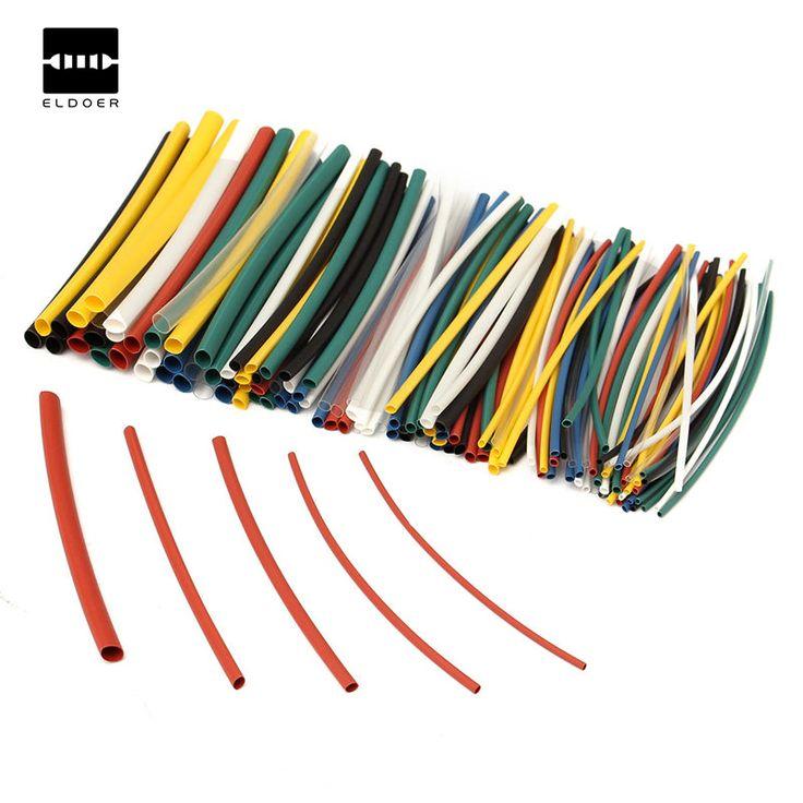 140 Pcs Mobil Listrik Kabel Panas Menyusut Tabung Tabung Untuk Wrap Aneka 5 Ukuran 7 Warna Poliolefin lengan Baru Listrik Unit bagian