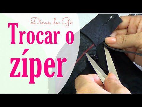 Vídeo aula Troca de zíper na calça jeans - YouTube