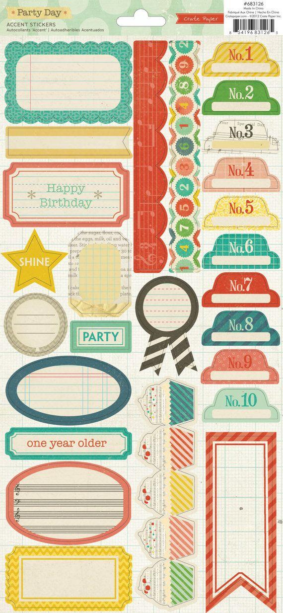60% de descuento - cajón papel fiesta día acento adhesivos - etiquetas