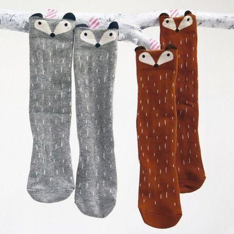 Des chaussettes raton laveurs et renards