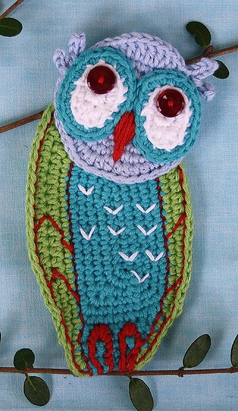 SCREECH OWL Crochet Pattern Applique by CAROcreated on Etsy
