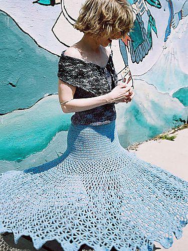 Spiderweb #Crochet Skirt Pattern - free pattern
