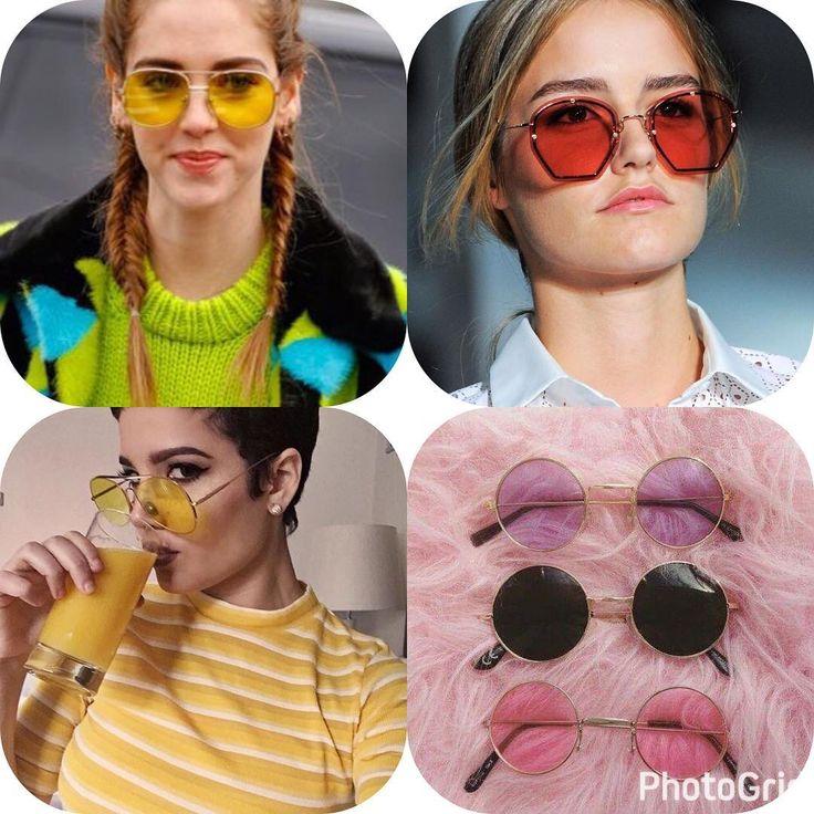 Galerinha fique por dentro dessa tendência !!! Óculos com lentes coloridas �� no mundo na moda..Aff não fiquem por fora né ���� #fashionista #fashion #oculoslentecolorida #blogueira #tendencia2017 http://butimag.com/ipost/1496833709550071916/?code=BTF0lQJj_Bs