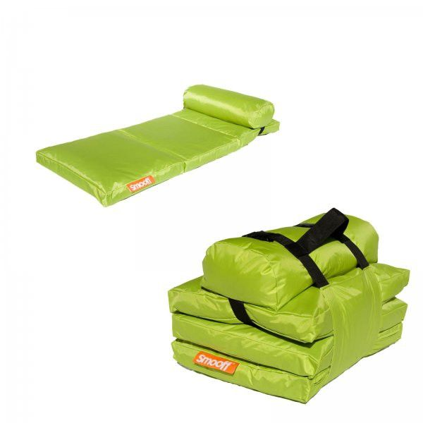 """Smooff Kidzzz Portable Mattress (Apple Green) (23.62""""H x 19.68""""W x 12.59""""D)"""