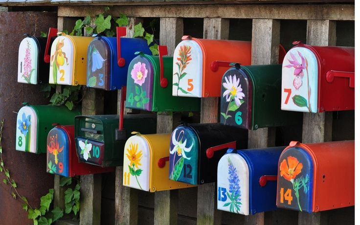 Cool Mailboxes For Sale With Beautiful Cool Painted Mailboxes With Flower Oil Painting Design