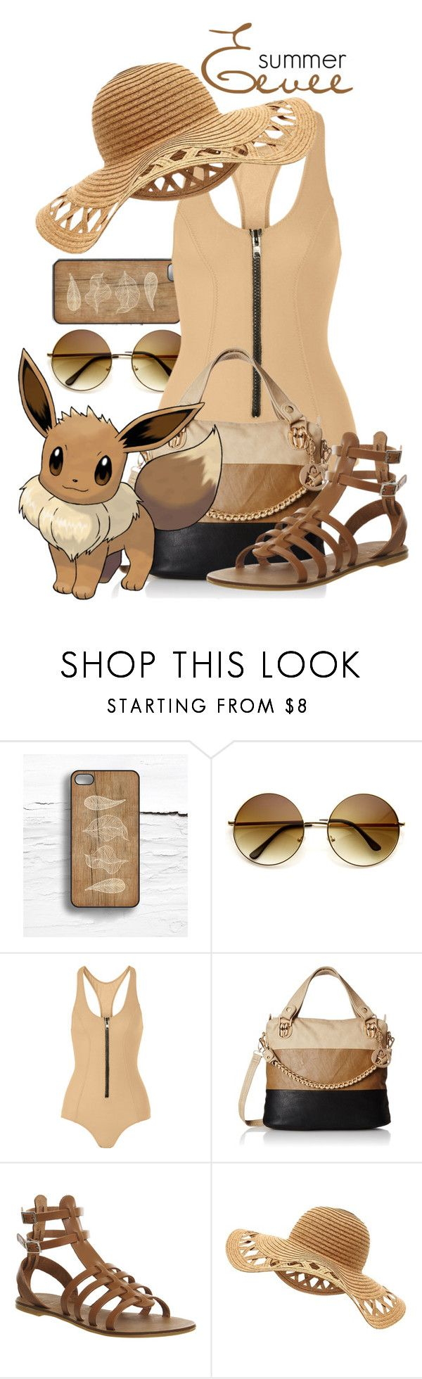 """""""Pokemon Beach: Eevee"""" by freezespell ❤ liked on Polyvore featuring Lisa Marie Fernandez and Office"""