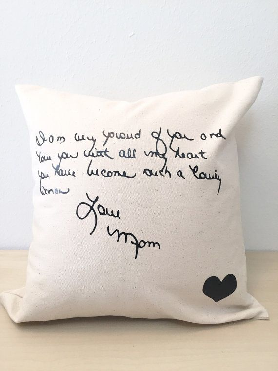 Loved One's Handwriting Pillow by MaywindMarket / Sentimental Gift / Remembrance Gift
