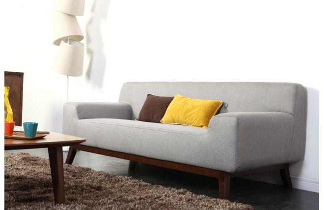 Divano design 3 posti grigio VILA - Zoom