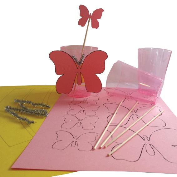 Geen ideeën, maar wel zin om zelf te knutselen. Dan is deze vlinder beker traktatie iets voor u! www.creakelder.nl
