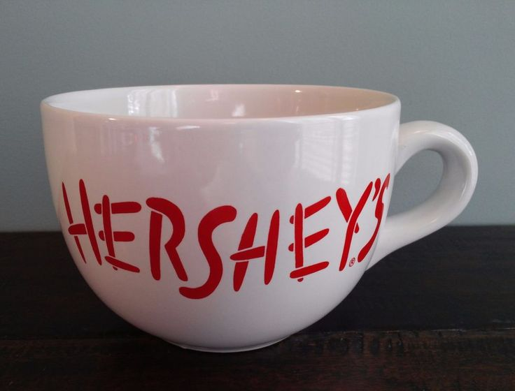 Hershey S Chocolate Large Oversized Coffee Mug Soup Cup White Red