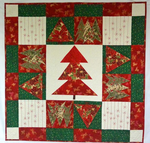 122 best Red and green Christmas quilts images on Pinterest ... : handmade christmas quilts - Adamdwight.com