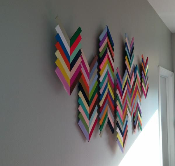 Diy Chevron Wall Art | Home Design