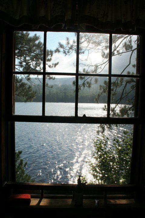 Cabin Window Water View