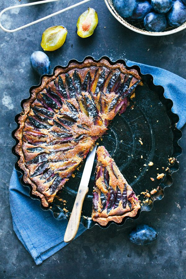 Easy rustic plum walnut and honey tart | jernejkitchen