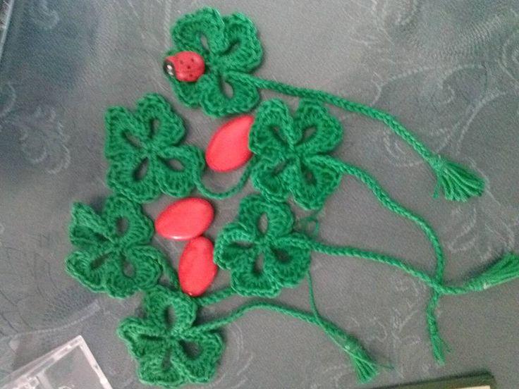 bomboniera quadrifoglio per laurea ganchillo borseefilati crochet