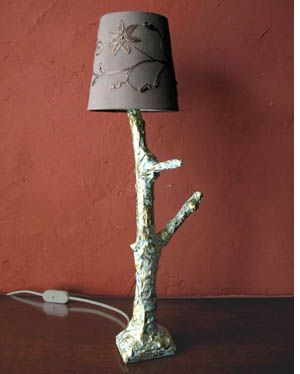 Tree Branch Lamp With Some Lighting Hardware, A Lamp Shade And A Nice  Branch,