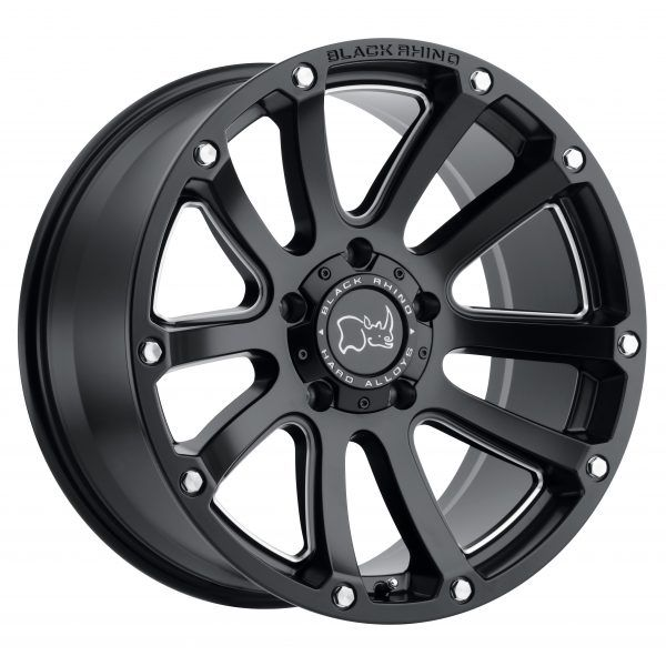 17 Black Rhino Highland Matte Black Wheel 17 9 5 5 5 12mm Lifted Truck Rim Black Rhino Wheels Black Wheels Truck Rims