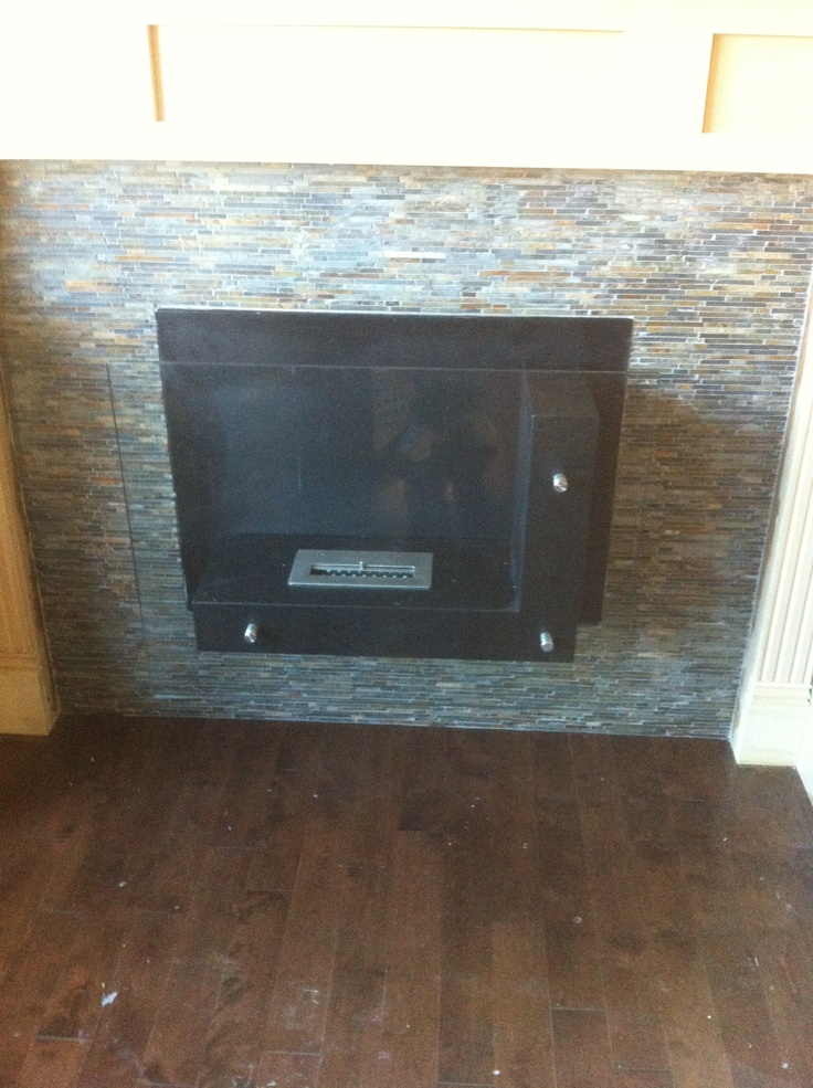 Slate Stacked Stone Fireplace Surround By Stepping Stone And Tile Sst Beautiful Tile Pinterest